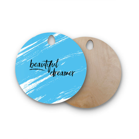 "NL Designs ""Beautiful Dreamer"" Round Wooden Cutting Board"