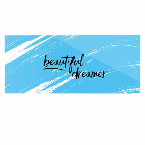 "NL designs ""Beautiful Dreamer"" Blue Typography Luxe Rectangle Panel - KESS InHouse  - 1"
