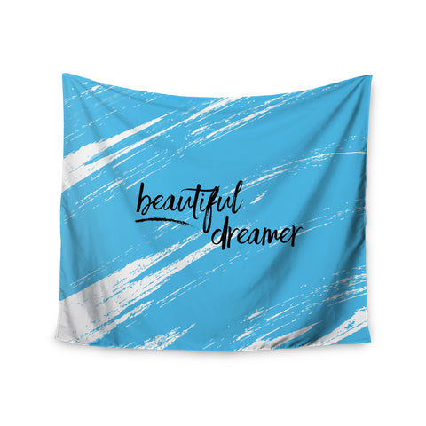 "NL designs ""Beautiful Dreamer"" Blue Typography Wall Tapestry - KESS InHouse  - 1"