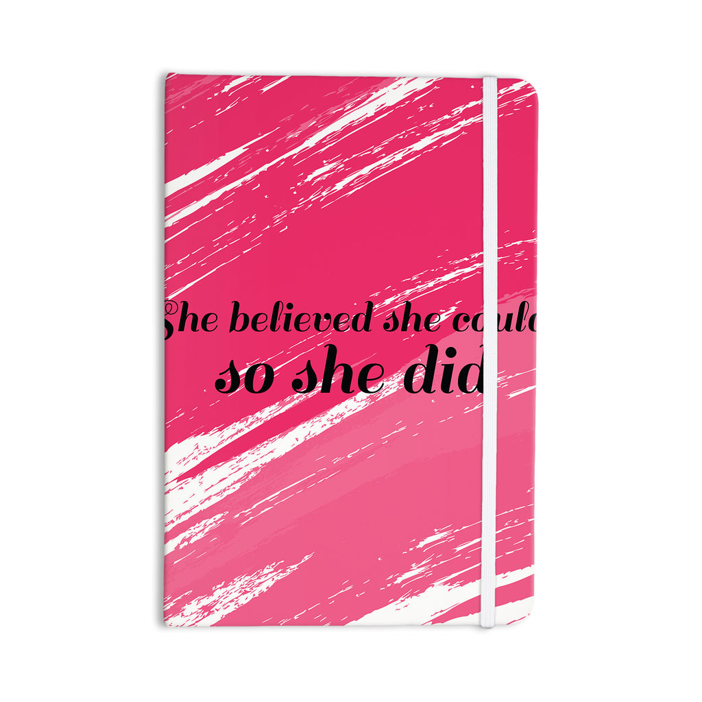 "NL designs ""She Did"" Pink Illustration Everything Notebook - KESS InHouse  - 1"