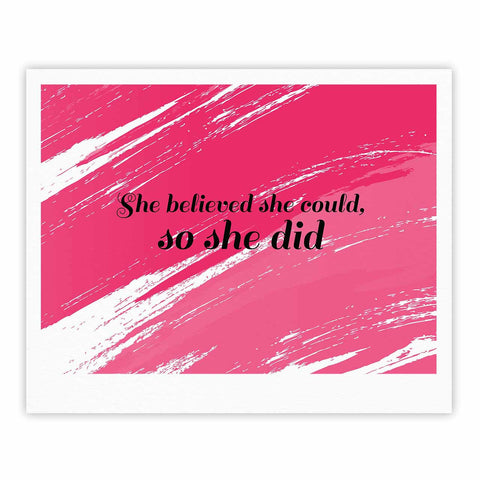 "NL designs ""She Did"" Pink Illustration Fine Art Gallery Print - KESS InHouse"