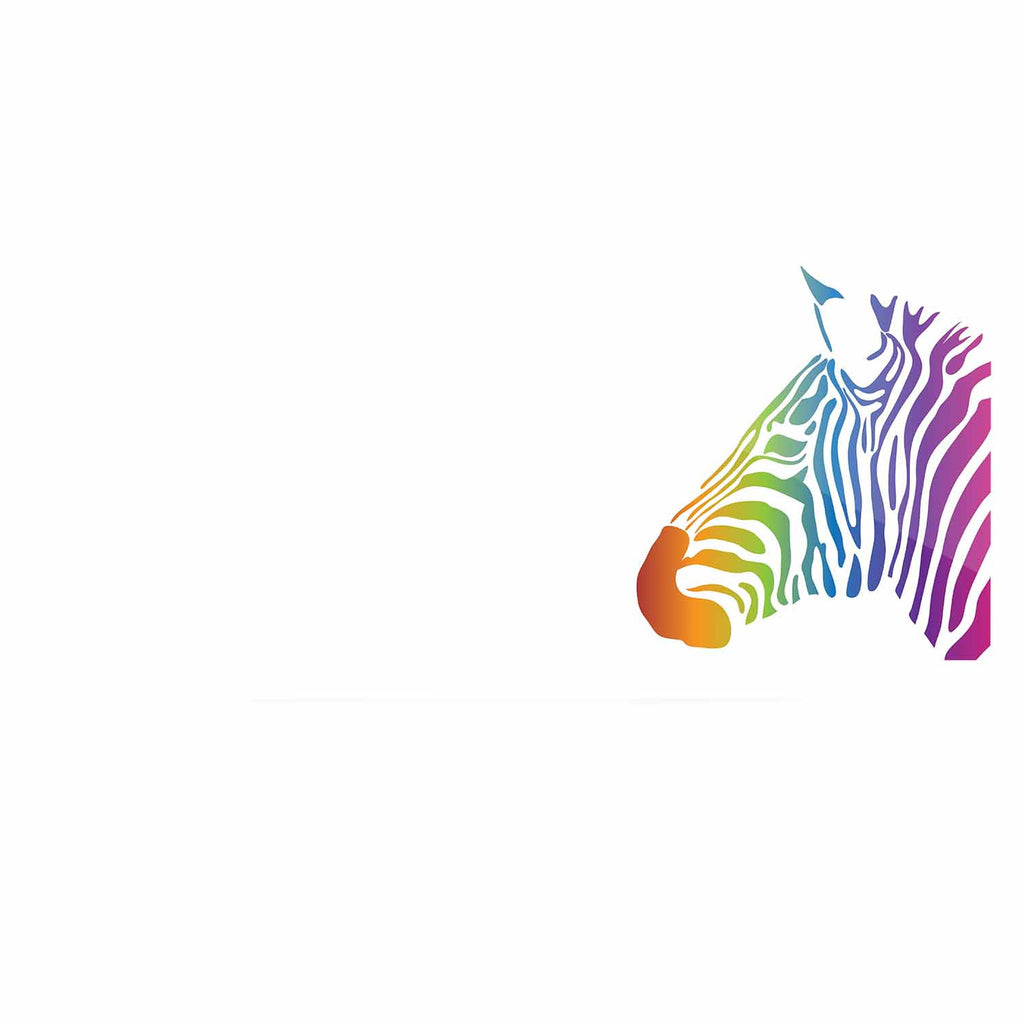 "NL designs ""Rainbow Zebra "" Multicolor Animals Luxe Rectangle Panel - KESS InHouse  - 1"