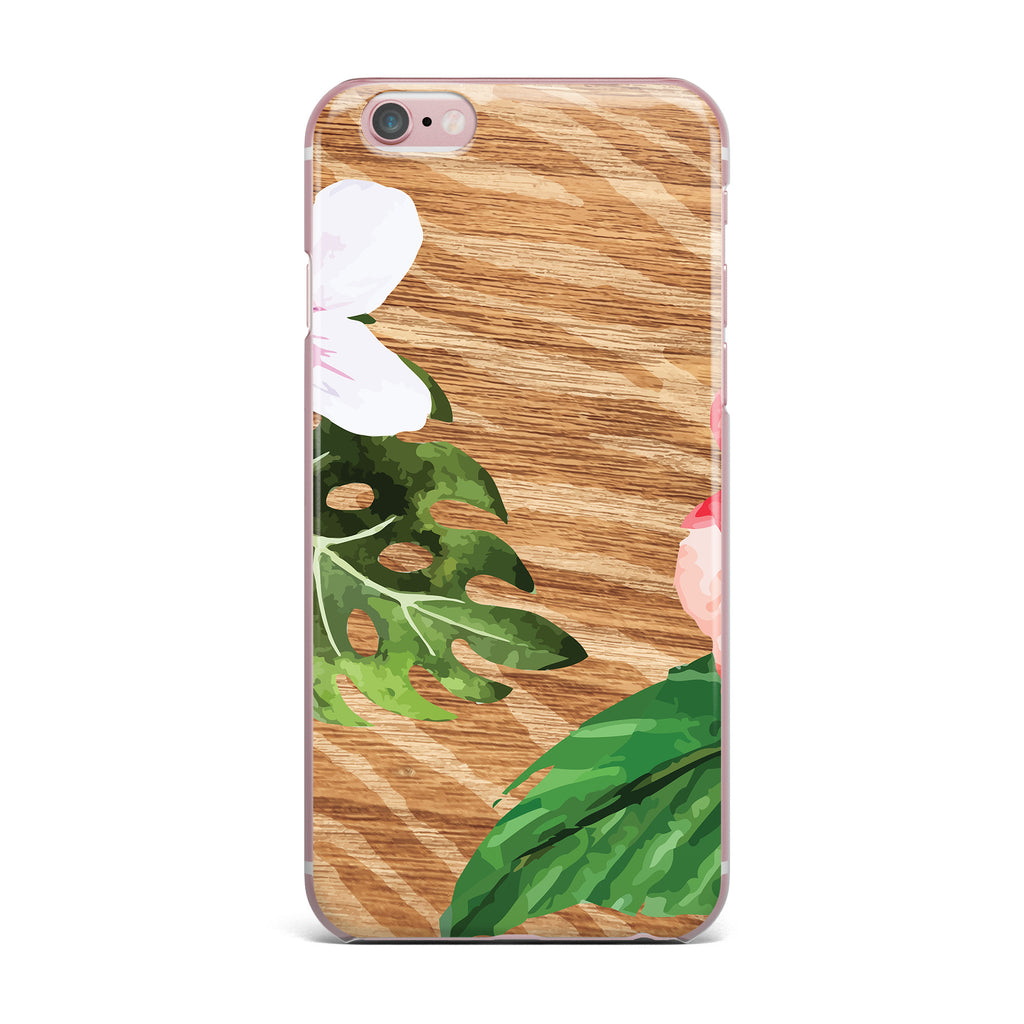 "NL designs ""Vintage Tropical Jungle "" Pink Floral iPhone Case - KESS InHouse"