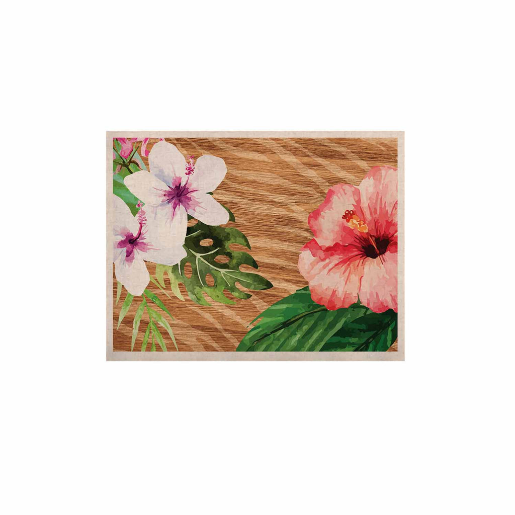 "NL designs ""Vintage Tropical Jungle "" Pink Floral KESS Naturals Canvas (Frame not Included) - KESS InHouse  - 1"