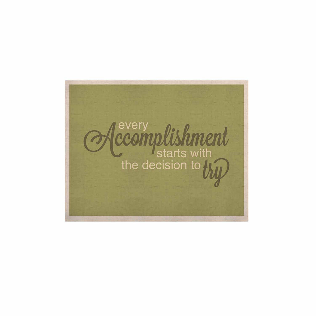 "NL designs ""Accomplishment Green"" Olive Typography KESS Naturals Canvas (Frame not Included) - KESS InHouse  - 1"