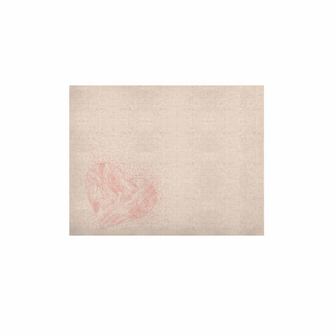 "NL Designs ""Pink Marble Heart"" Pink White Digital KESS Naturals Canvas (Frame not Included)"