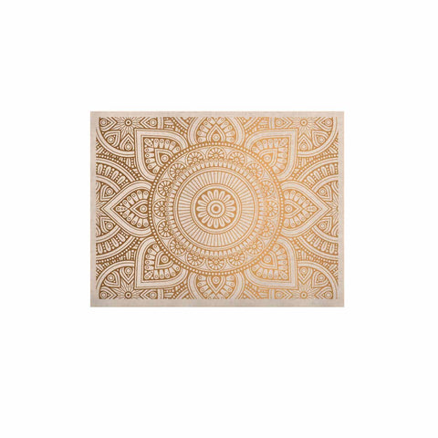 "NL designs ""Golden Mandala"" Gold White Pattern Ethnic Digital Vector KESS Naturals Canvas (Frame not Included)"