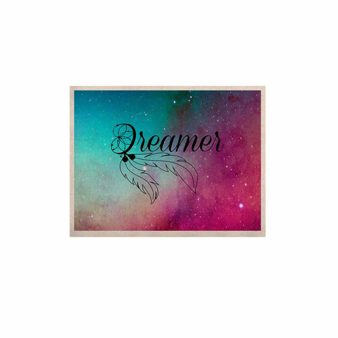 "NL designs ""Dream Catcher Teal Pink Galaxy"" Multicolor Black Typography Celestial Digital Watercolor KESS Naturals Canvas (Frame not Included)"