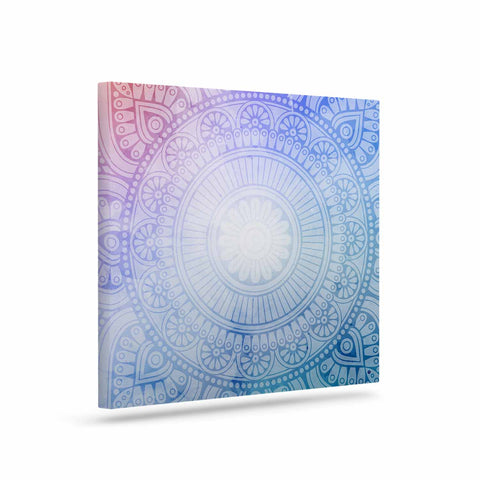 "NL designs ""Pastel Rainbow Mandala"" Pastel Multicolor Ethnic Pattern Digital Vector Art Canvas"