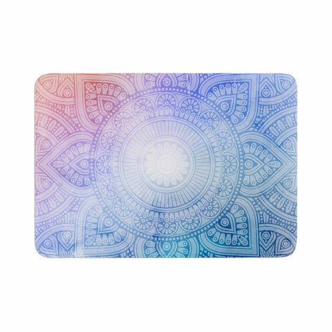"NL designs ""Pastel Rainbow Mandala"" Pastel Multicolor Ethnic Pattern Digital Vector Memory Foam Bath Mat"