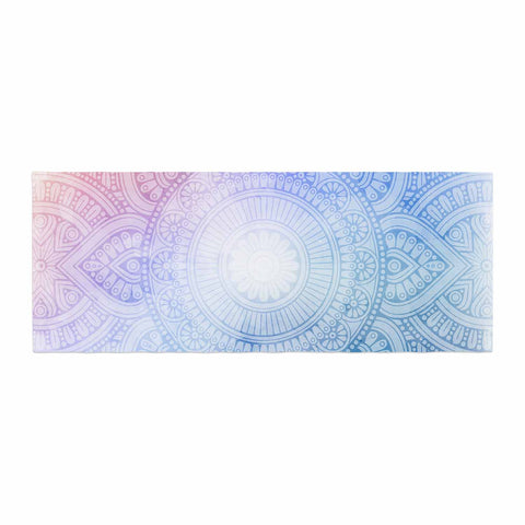 "NL designs ""Pastel Rainbow Mandala"" Pastel Multicolor Ethnic Pattern Digital Vector Bed Runner"