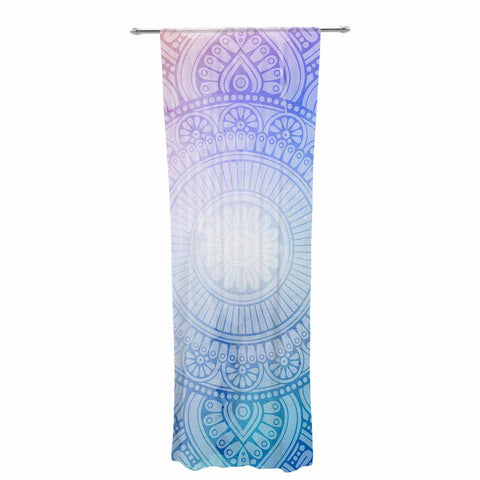 "NL designs ""Pastel Rainbow Mandala"" Pastel Multicolor Ethnic Pattern Digital Vector Decorative Sheer Curtain"