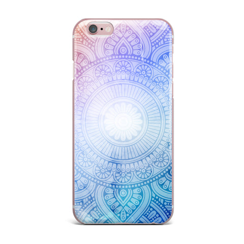 "NL designs ""Pastel Rainbow Mandala"" Pastel Multicolor Ethnic Pattern Digital Vector iPhone Case"