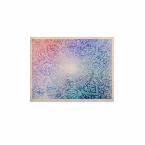"NL designs ""Pastel Rainbow Mandala"" Pastel Multicolor Ethnic Pattern Digital Vector KESS Naturals Canvas (Frame not Included)"
