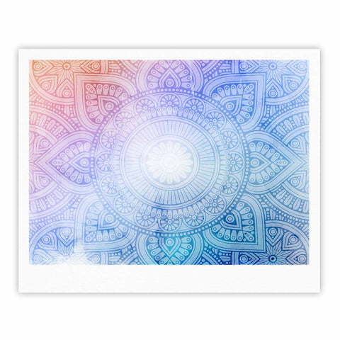 "NL designs ""Pastel Rainbow Mandala"" Pastel Multicolor Ethnic Pattern Digital Vector Fine Art Gallery Print"