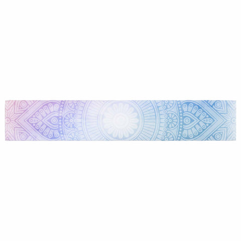 "NL designs ""Pastel Rainbow Mandala"" Pastel Multicolor Ethnic Pattern Digital Vector Table Runner"
