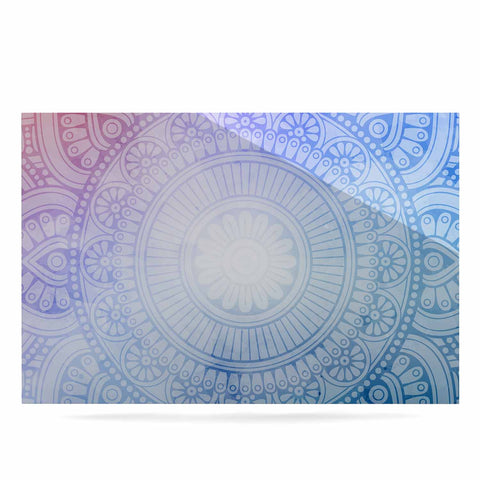 "NL designs ""Pastel Rainbow Mandala"" Pastel Multicolor Ethnic Pattern Digital Vector Luxe Rectangle Panel"