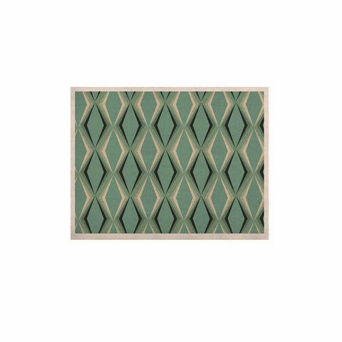 "NL designs ""Retro Diamond Pattern Green"" Gray Green Pattern Vintage Digital Vector KESS Naturals Canvas (Frame not Included)"