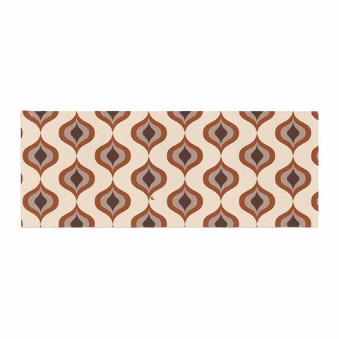 "NL designs ""Retro Pattern Orange"" Tan Brown Pattern Vintage Digital Vector Bed Runner"
