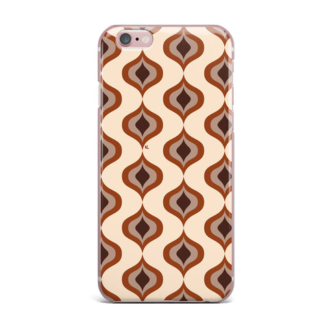"NL designs ""Retro Pattern Orange"" Tan Brown Pattern Vintage Digital Vector iPhone Case"