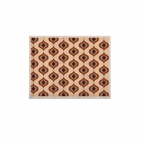 "NL designs ""Retro Pattern Orange"" Tan Brown Pattern Vintage Digital Vector KESS Naturals Canvas (Frame not Included)"