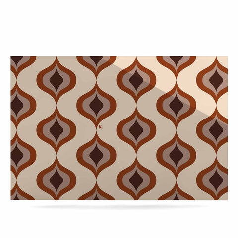 "NL designs ""Retro Pattern Orange"" Tan Brown Pattern Vintage Digital Vector Luxe Rectangle Panel"