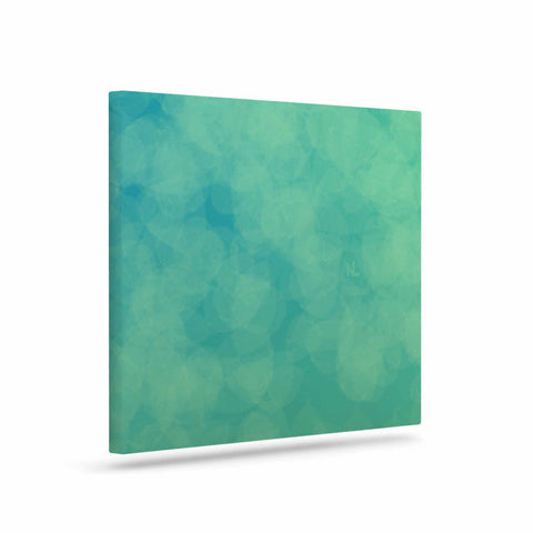 "NL designs ""Blue Yellow Green Bokeh"" Blue Teal Bokeh Abstract Digital Vector Art Canvas"