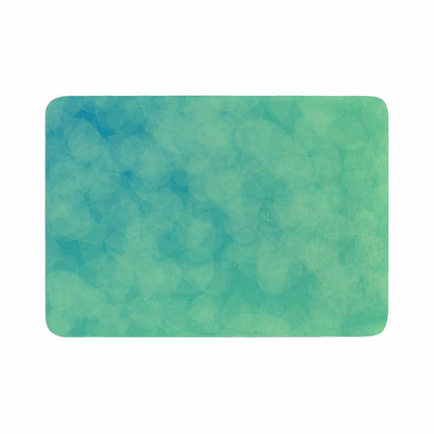 "NL designs ""Blue Yellow Green Bokeh"" Blue Teal Bokeh Abstract Digital Vector Memory Foam Bath Mat"