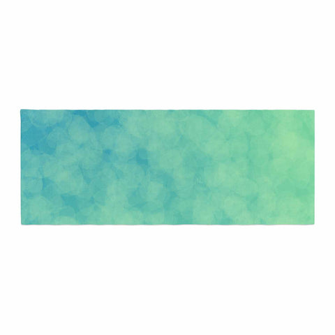 "NL designs ""Blue Yellow Green Bokeh"" Blue Teal Bokeh Abstract Digital Vector Bed Runner"