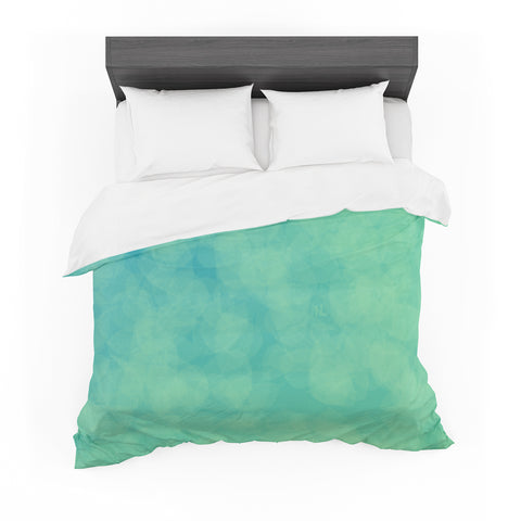 "NL designs ""Blue Yellow Green Bokeh"" Blue Teal Bokeh Abstract Digital Vector Featherweight Duvet Cover"