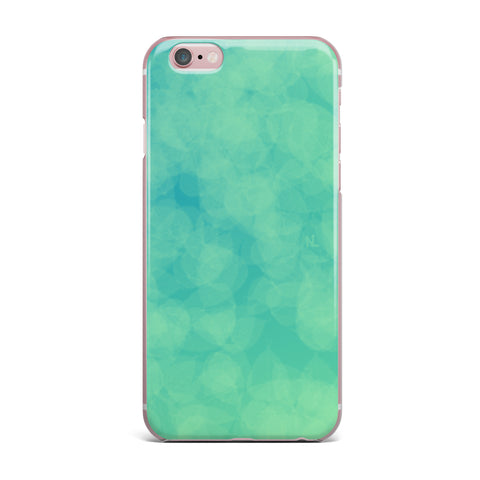 "NL designs ""Blue Yellow Green Bokeh"" Blue Teal Bokeh Abstract Digital Vector iPhone Case"