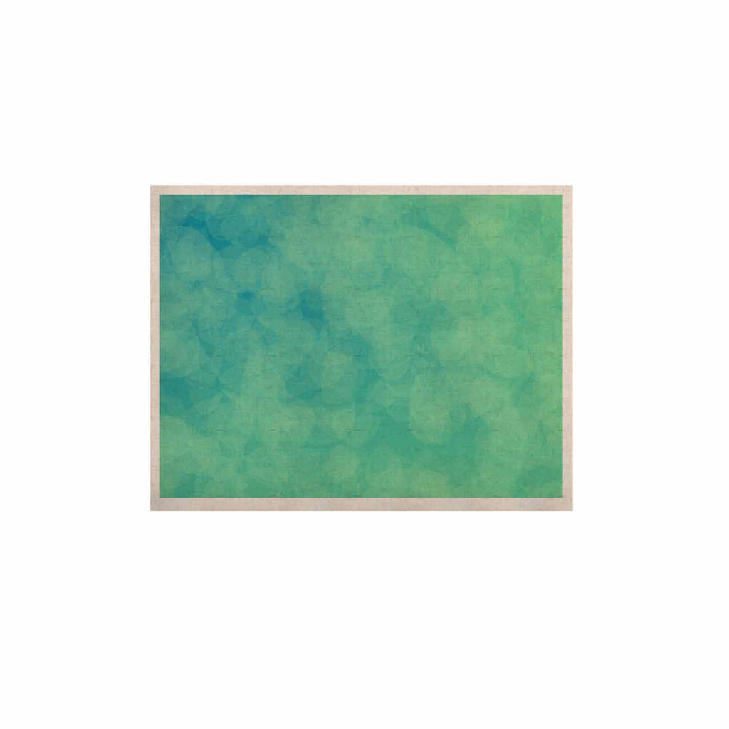 "NL designs ""Blue Yellow Green Bokeh"" Blue Teal Bokeh Abstract Digital Vector KESS Naturals Canvas (Frame not Included)"