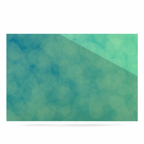 "NL designs ""Blue Yellow Green Bokeh"" Blue Teal Bokeh Abstract Digital Vector Luxe Rectangle Panel"