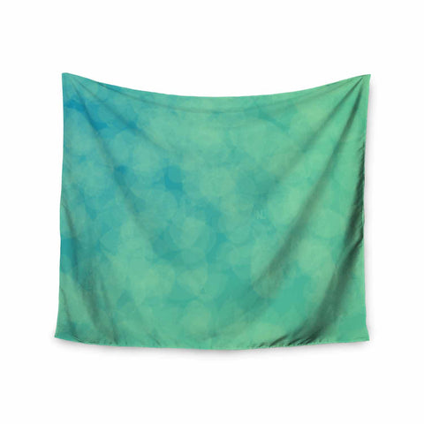 "NL designs ""Blue Yellow Green Bokeh"" Blue Teal Bokeh Abstract Digital Vector Wall Tapestry"