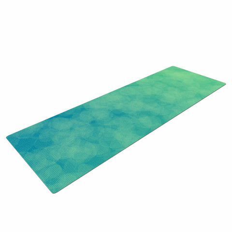 "NL designs ""Blue Yellow Green Bokeh"" Blue Teal Bokeh Abstract Digital Vector Yoga Mat"