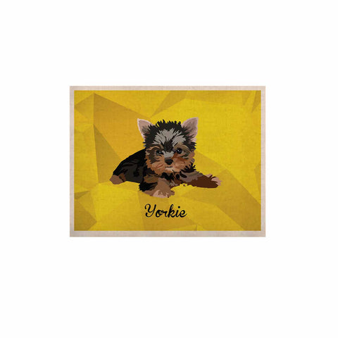 "NL Designs ""Yorkie"" Yellow Brown Animals Digital Illustration KESS Naturals Canvas (Frame not Included)"
