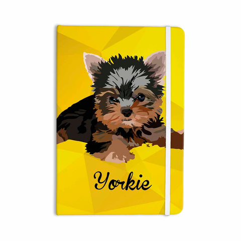 "NL Designs ""Yorkie"" Yellow Brown Animals Digital Illustration Everything Notebook"