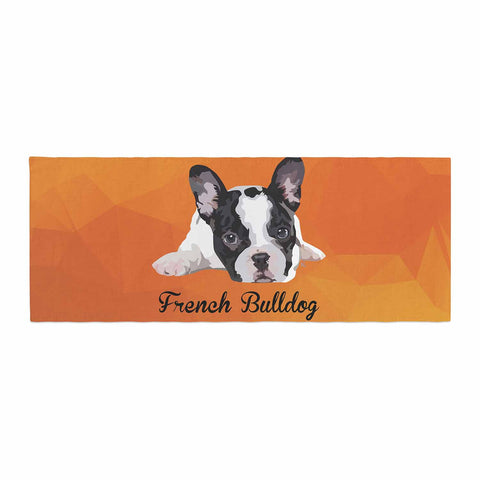 "NL Designs ""French Bulldog"" Orange White Animals Digital Illustration Bed Runner"