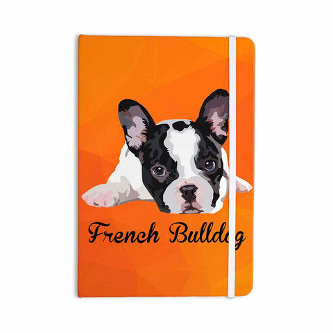 "NL Designs ""French Bulldog"" Orange White Animals Digital Illustration Everything Notebook"