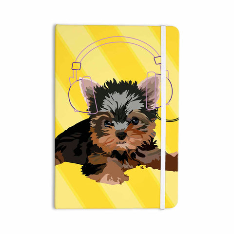 "NL Designs ""Rockin' Pups Yorkie"" Yellow Brown Animals Digital Illustration Everything Notebook"