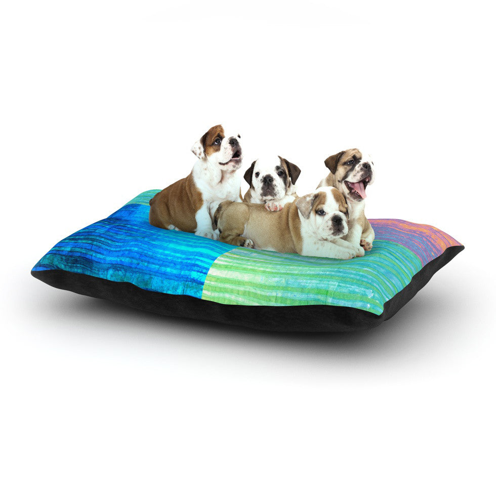 "Nina May ""Crayon Batik"" Dog Bed - KESS InHouse  - 1"