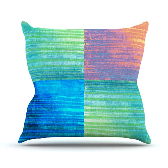 "Nina May ""Crayon Batik"" Outdoor Throw Pillow - KESS InHouse  - 1"