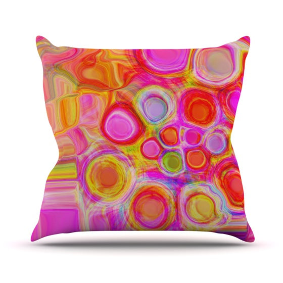 "Nina May ""Spring"" Throw Pillow - KESS InHouse  - 1"