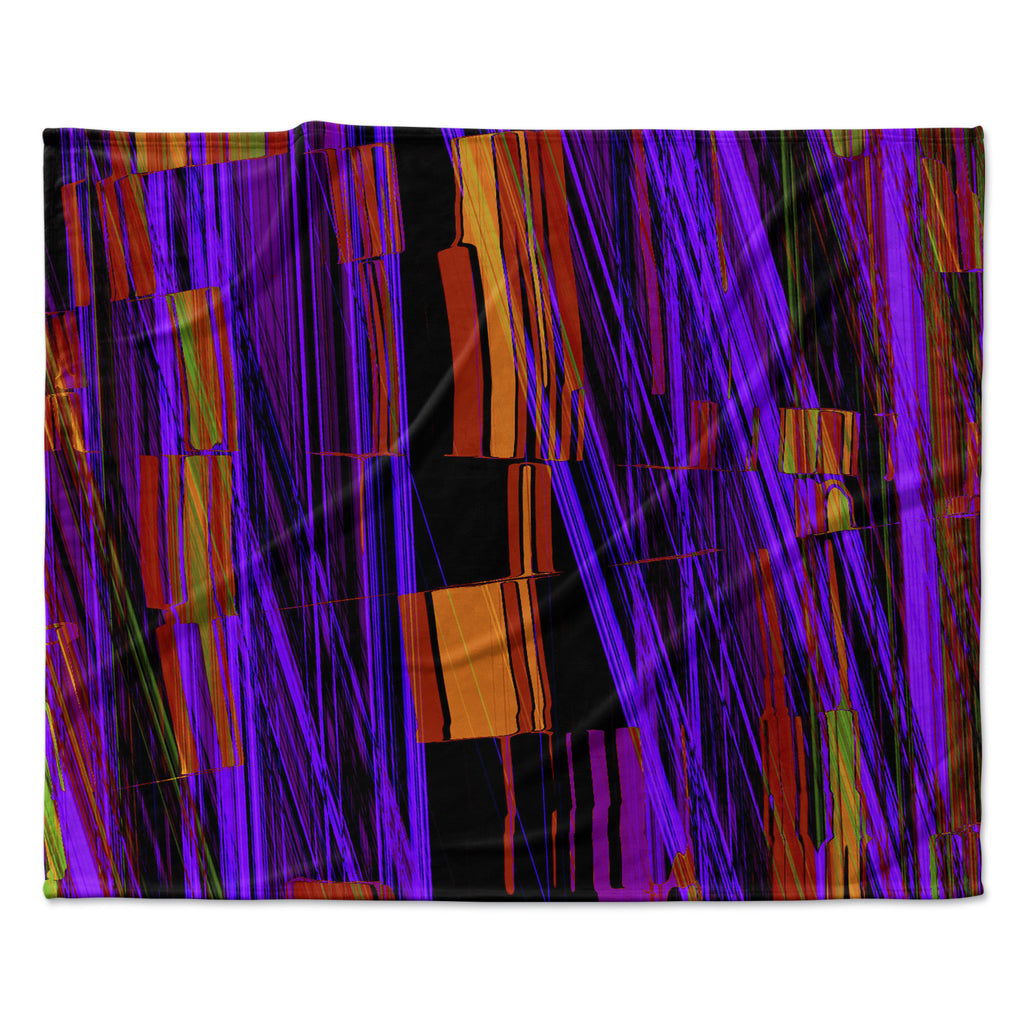 "Nina May ""Threads"" Fleece Throw Blanket"