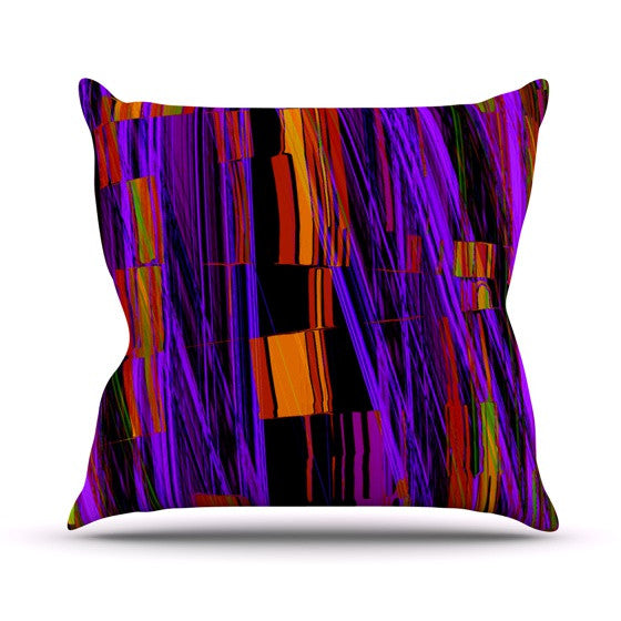 "Nina May ""Threads"" Outdoor Throw Pillow - KESS InHouse  - 1"