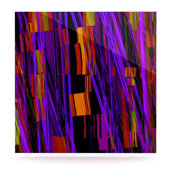 "Nina May ""Threads"" Luxe Square Panel - KESS InHouse  - 1"