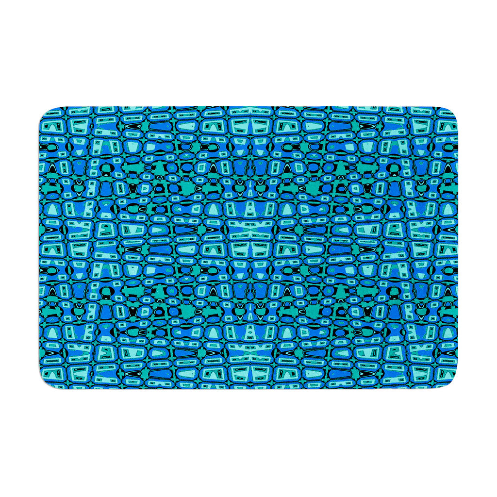 "Nina May ""Variblue"" Memory Foam Bath Mat - KESS InHouse"