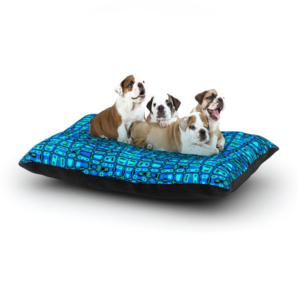 "Nina May ""Variblue"" Dog Bed - KESS InHouse  - 1"