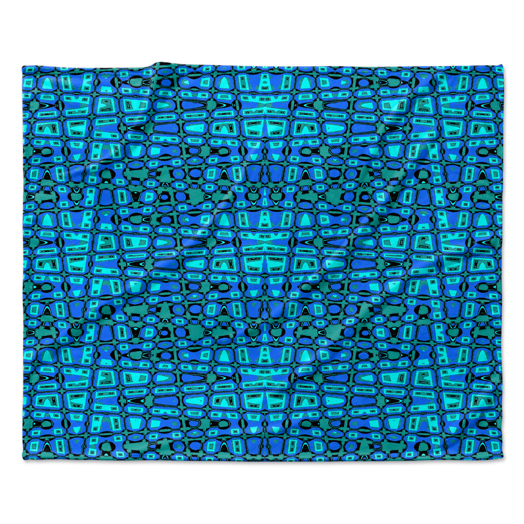 "Nina May ""Variblue"" Fleece Throw Blanket"