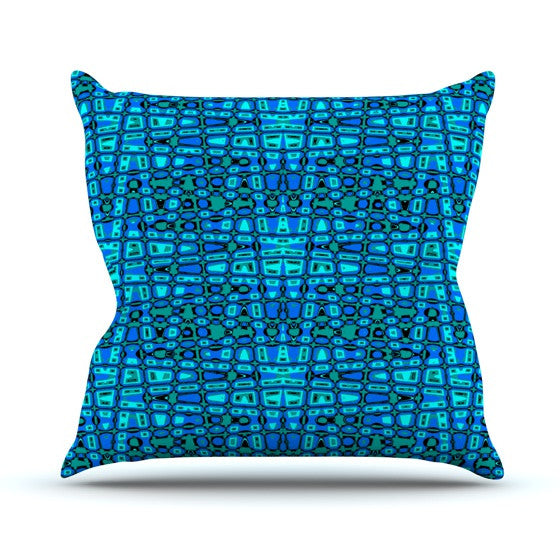 "Nina May ""Variblue"" Outdoor Throw Pillow - KESS InHouse  - 1"